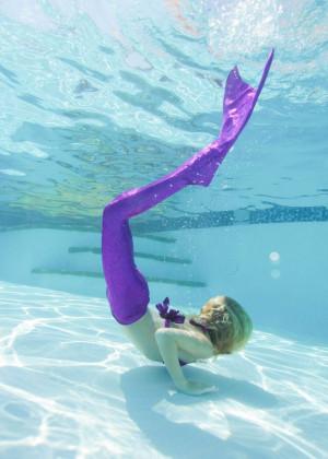 Mermaid Tail and Realistic Monofin Purple Sky Fin Fun Mermaid ...