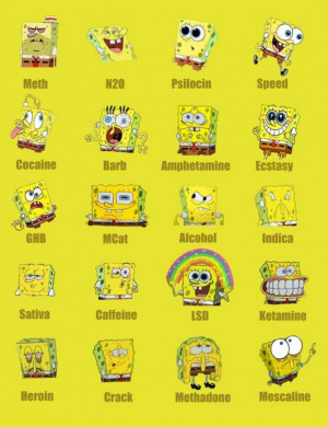 Friendship quotes spongebob on different drugs funny quotes and ...