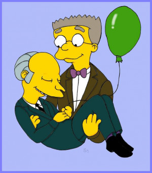 Mr. Burns and Smithers by Burnsmithers-Love