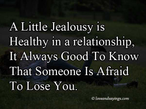 Little Jealousy In Relationships