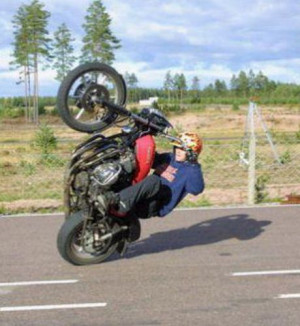 Funny Pictures Wheelie Picture