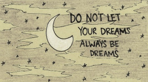 cute, dreams, moon, night, quote, text