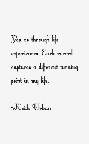 You go through life experiences. Each record captures a different ...