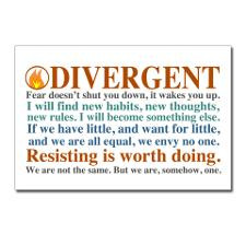 Divergent Quotes Postcards (Package Of 8) Postcard for