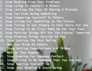 Stop... change... feel happier