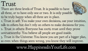 Untrustworthy Quotes There are three levels of