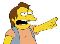 wish Nelson Muntz stood at the bottom of the escalator laughing at ...