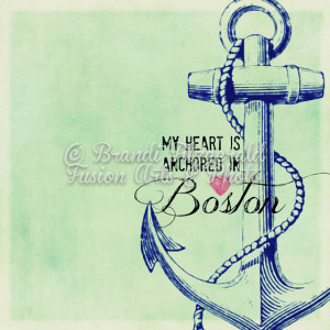 Boston Anchor Beantown Love Inspired Nautical Decor Choose Lustre ...