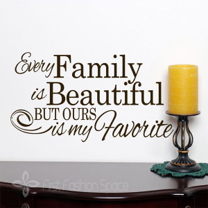 ... My Favorite Words Wall Decal Sticker, Beautiful Family Quotes 62x36CM
