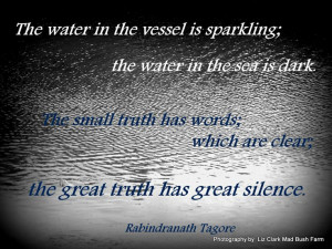 The great truth has great silence #quote