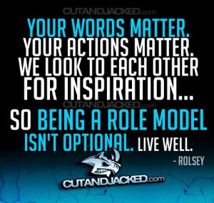 Be a role model to other - Role models - pictures and images.