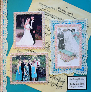 the wedding scrapbook layout ideas instructions and free vintage
