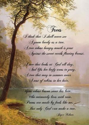 Trees by Joyce Kilmer
