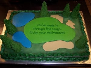 Golf Retirement Cakes http://cakecentral.com/g/i/1167810/two-11x15-put ...
