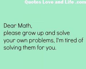 Dear Math Quotes Funny