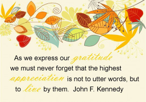 Gratitude Quotes - John F. Kennedy - The HWL