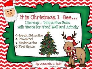Winter Holiday Literacy Activity: Christmas Interactive Book: