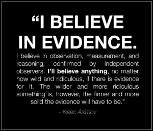 evidence, quote, issac asimov