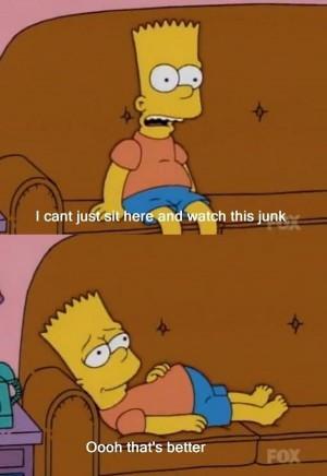 Bart Simpson Watching TV