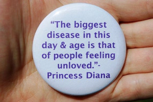 Princess Diana Love Quote Button/Badge or by TheVeganHippieFreak, $2 ...