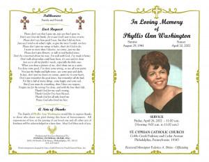 Catholic Funeral Program Template Free