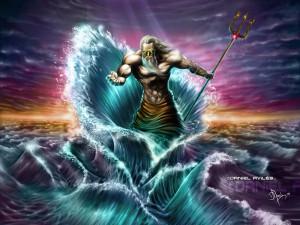 Poseidon (Neptune) Greek God - Art Picture by Artmus