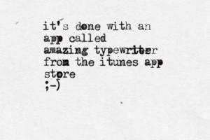 Typewriter Quotes Tumblr Amazing typewriter