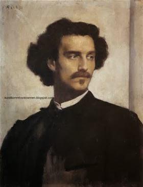 Anselm Feuerbach, Self-portrait,