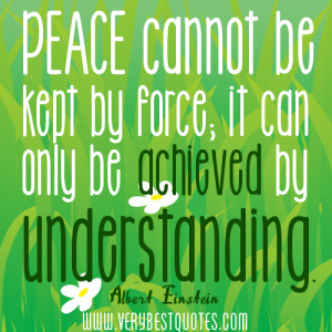 Albert Einstein Quotes about Peace