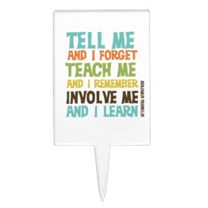 Involve Me Inspirational Quote Cake Toppers
