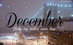 begins about the first of december december wishes come true