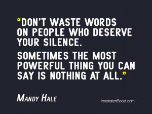 Quotes about Staying Silence