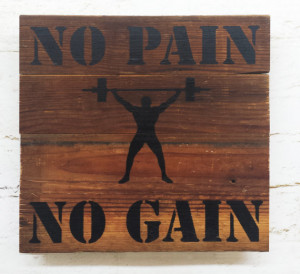 ... Pain No Gain crossfit gym decor motivational exercise weight lifting