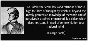 To unfold the secret laws and relations of those high faculties of ...