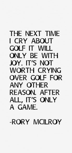 Rory McIlroy Quotes & Sayings