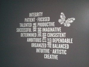 Positive Words Vinyl Art - Wall Decals & Wall Words