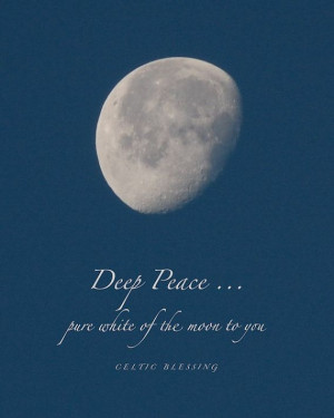 Deep Peace...pure white of the moon over you~ Rumi photograph print by ...