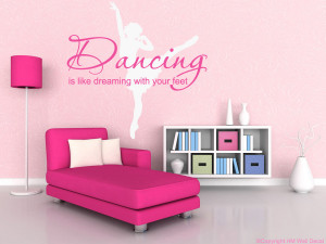 Ballerina and Quote in 2 colours Removable Wall Sticker