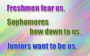 Verwante zoekopdrachten voor Cool slogans for freshman 2014