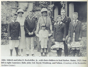 The Abby Aldrich -JD Rockefeller Jr family (Laurance, Babs, John 3rd ...