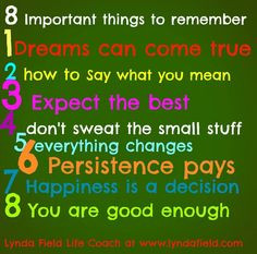 Don't sweat the small stuff! More