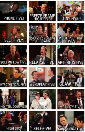 high fives by barney stinson d