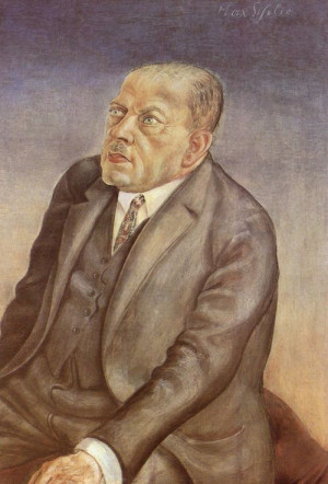 Otto Dix, Portrait of the Philosopher Max Scheler, 1926.