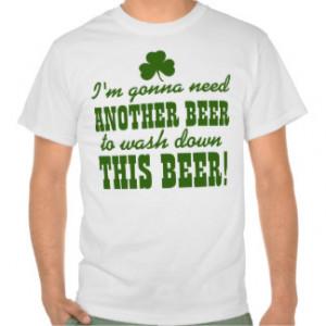 Funny St Patricks Day Irish Beer Drinking Tees