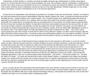 essay on Frankenstein by Mary Shelley Essay