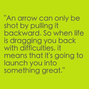 like an arrow..