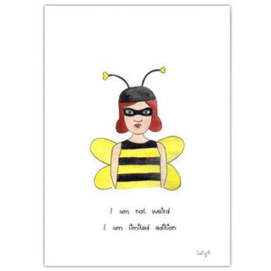 funny quote illustration bee girl