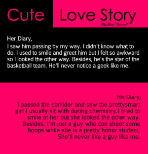 Cute Love Story - Sayings with Images