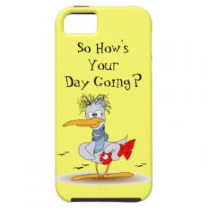 So Hows Your Day Going Funny Stressed Bird Seagull iPhone 5 Cases