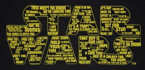 Star Wars - Quotes Logo Black Male T-Shirt